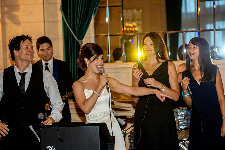 Bride Sings with the Kramer Band